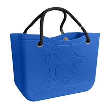 Load image into Gallery viewer, SunBagg in Caribbean. Waterproof, Multi-purpose, Beach Bag, Pool, Boat, Travel Tote, Like Bogg Bag. Liner included.