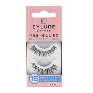 Eylure Natural Pre-Glued Fluttery Light 117
