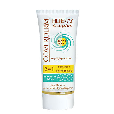 Coverderm Filteray Face Plus Full Spectrum Dry Sensitive SPF 50+ - Tinted