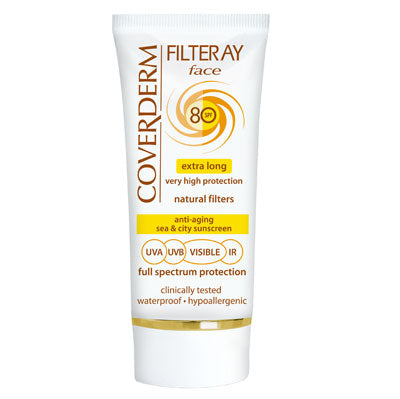 Coverderm Filteray Face Full Spectrum SPF 80 - Tinted