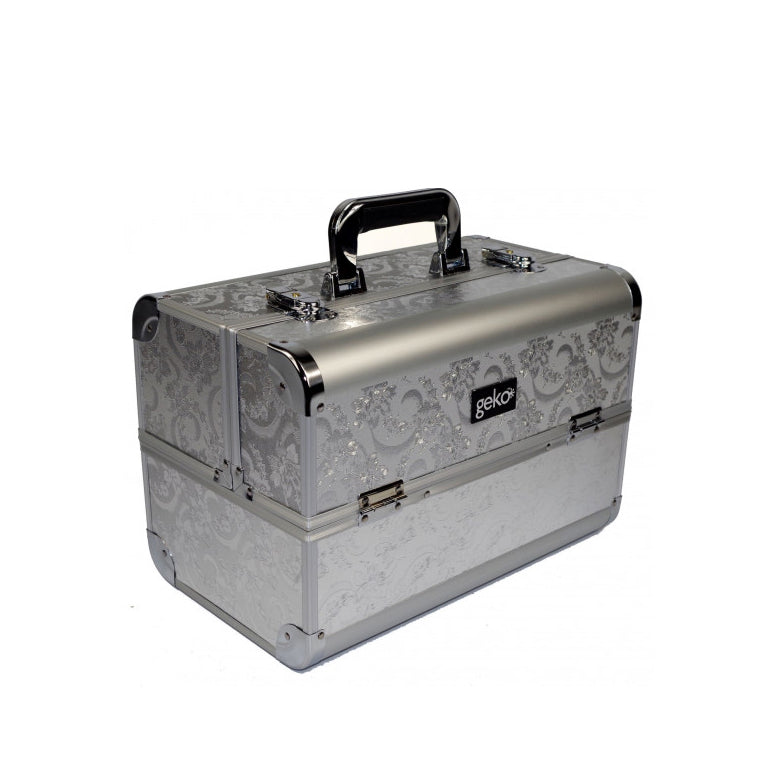 Geko Makeup Case - Silver Leaf
