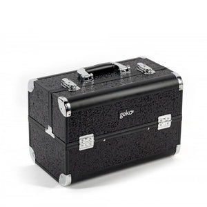 Geko Makeup Case - Black Glitter