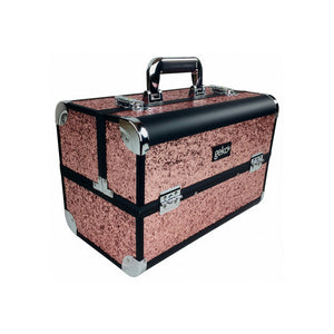 Geko Makeup Case - Rose Gold Glitter