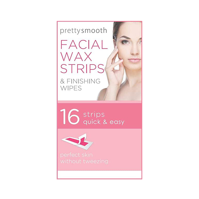 Pretty Smooth Facial Wax Strips + Finishing Wipes