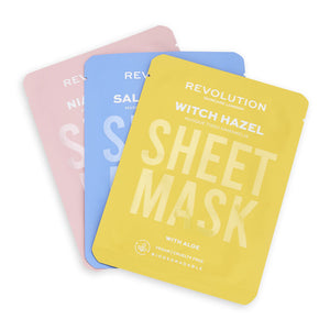 Revolution Skincare Sheet Mask Pack for Blemish Prone Skin
