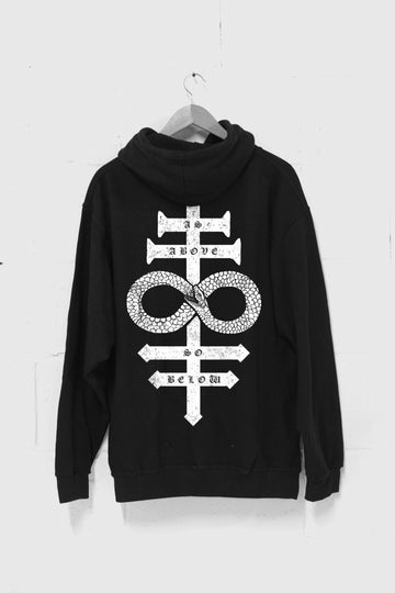 As Above, So Below Snake Hoodie
