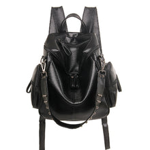 Diinovivo 3 way PU Leather Studded Backpack