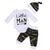 3pcs Newborn Baby Clothes Set Letter Printed Tops Romper+Camo Pants+Hat Infant Boys Girls Leisure Outfits Set Children Costumes