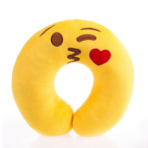 Plush Toys Emoji Face Doll Pillow U-shaped Pillow