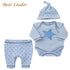 Bear Leader Baby Boy 3pcs Sets Long-sleeve Rompers+Hat+Pants Baby Girls Clothing Suits Stars Printting Infant Jumpsuits Boys