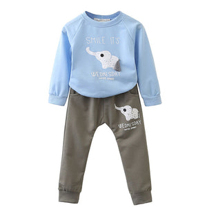 Bear Leader Kid Set 2018 Spring Fashion Style Cartoon Baby Sets Long Sleeve Shirt+Jeans Pants 2Ps Boys Clothes Kids Clothes 1-4y