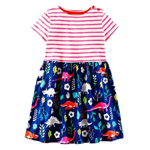 Baby Girls Dress 2018 Brand Summer Toddler Dresses Flower Princess Costume for Kids Clothes Tunic Jersey Vestidos Children Dress