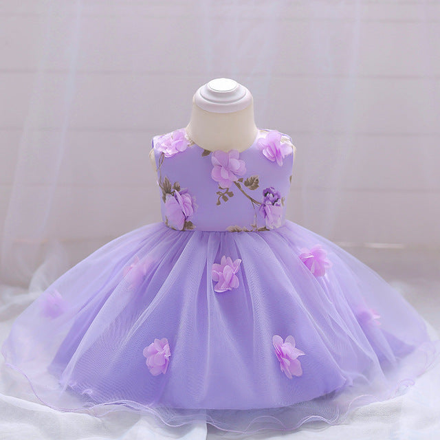 0aa8bcdd77183 1 Year Toddler baby Girl Dress Baby Girl Birthday Dresses For Girls Kids  Wedding Party Wear Newborn Baby Princess Gowns