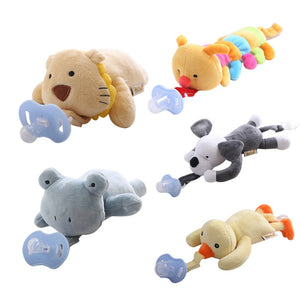 Hanging Removable Baby Pacifier Newborn Infants Plush Animals Doll Nipple Soother Toys Teether Toy Accessories Without Pacifier