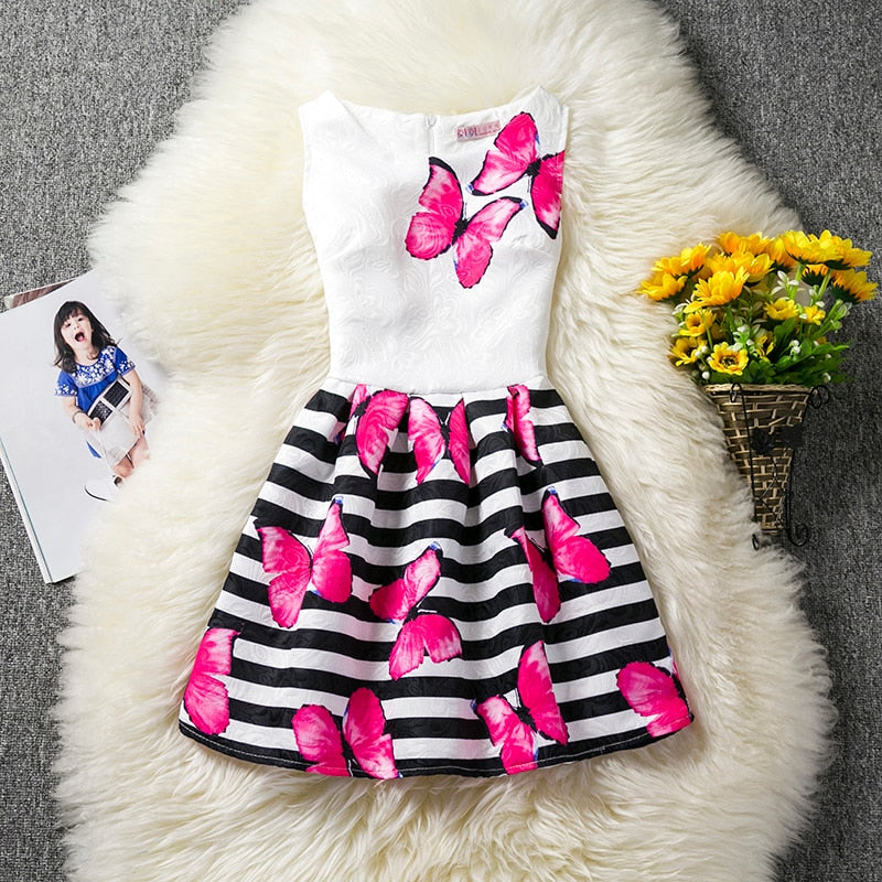 912b4a27d Trendy Girl Kids Summer Dresses For Girls Princess Casual Wear Baby Party  Dress Children Clothes Girl