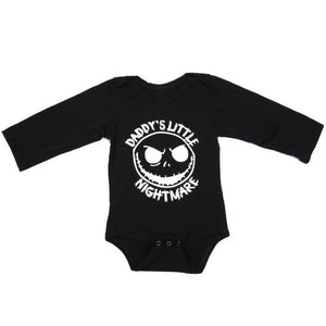Fashion Newborn Baby Halloween Print Black Romper Infant Baby Boys Cotton Romper