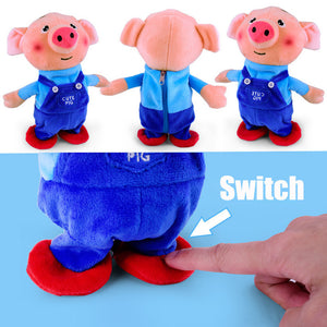 Learn To Speak & Walk & Sing Electric Plush Toys Amusing Music Pig Toy