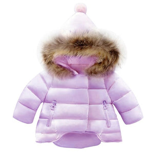 Penguin Organics Baby Girls Winter Long Sleeve Jacket/Coat