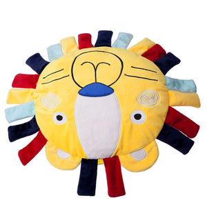 2018 Baby plush toy pillow with ring paper label bell cartoon accompanying sleeping comfort pillow
