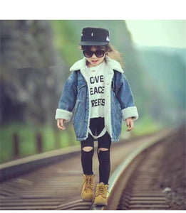Warm Lamb Wool Jeans Jacket For Girls (2018 Fashion)