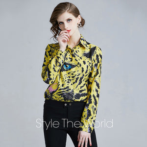 Uniquely-designed Animal Print Blouse