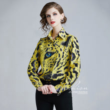 Load image into Gallery viewer, Uniquely-designed Animal Print Blouse