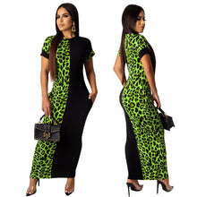 Load image into Gallery viewer, Leopard-print Full-length Dress