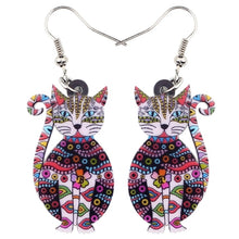 Load image into Gallery viewer, Trendy Floral Cat Earrings
