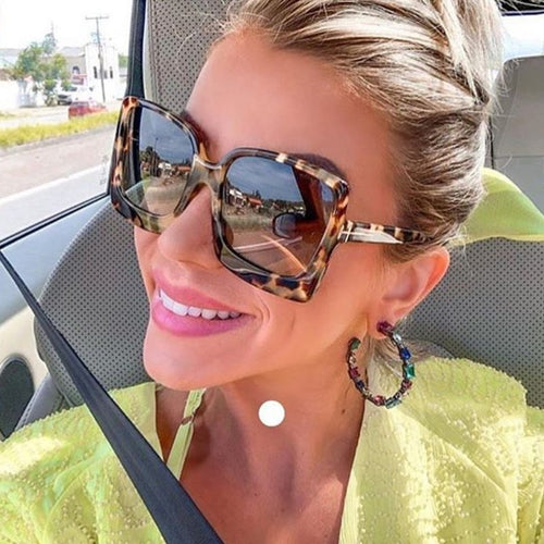 Chunky Big and Sexy Animal-Print Sunglasses