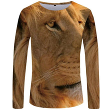 Load image into Gallery viewer, Cool Animal-faced Tees for Men - Long Sleeve