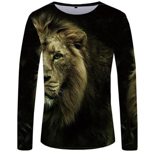 Cool Animal-faced Tees for Men - Long Sleeve