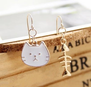 Funly-Styled Cat Fish Earrings