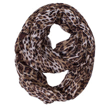 Load image into Gallery viewer, Sophisticated Leopard Print Infinity Scarf