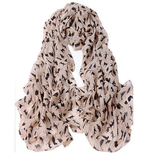 Adorably Sweet, Chiffon Cat Scarf