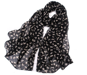 Adorably Sweet, Soft, Chiffon Cat Scarf