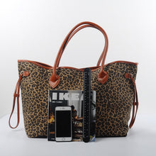 Load image into Gallery viewer, Exotically Fun Leopard Tote Bag