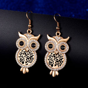 Tree of Life Owl Earrings