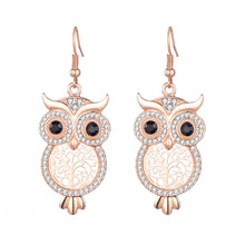 Load image into Gallery viewer, Tree of Life Owl Earrings
