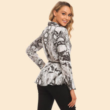 Load image into Gallery viewer, Asymmetrical Snake-print Shirt