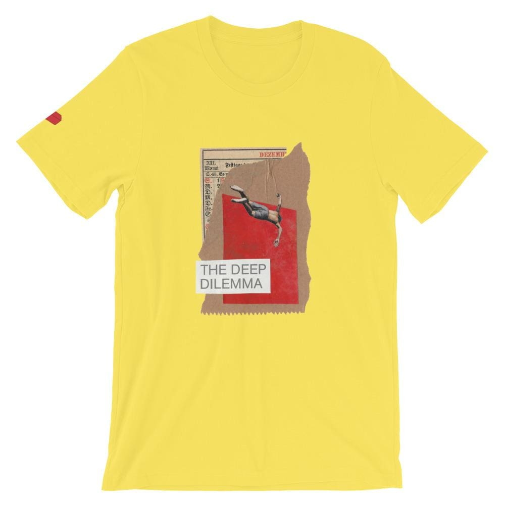 The deep dilemma - yellow / S - T-Shirt