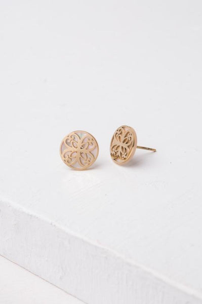 Maile Gold Stud Earrings