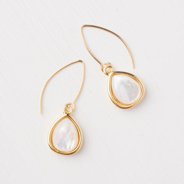Charity Gold Mother of Pearl Earrings