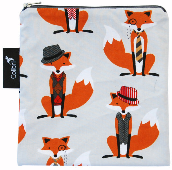 Large Snack Bag - Foxes