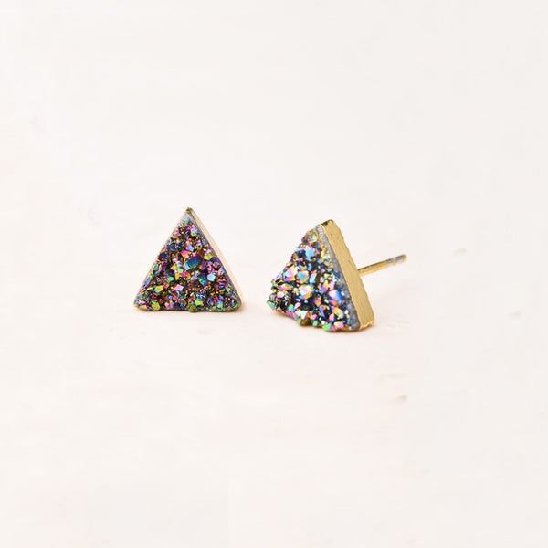 Kyra Multicoloured Druzy Studs