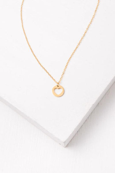 Haley Gold Heart Necklace