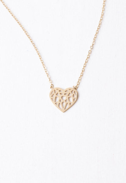 Ling Gold Heart Pendant Necklace
