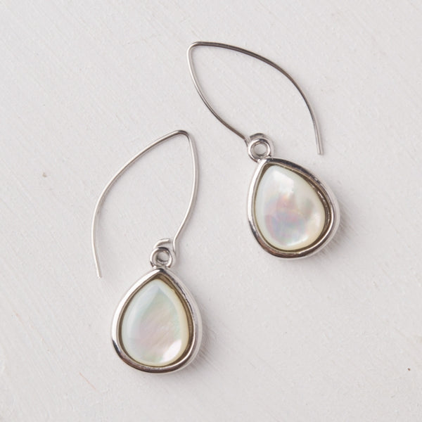 Charity Silver Mother of Pearl Earrings