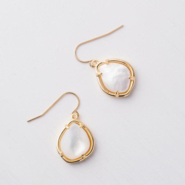 Harmony Gold Mother of Pearl Earrings