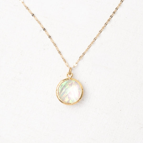 Joelle Gold & Opal Necklace
