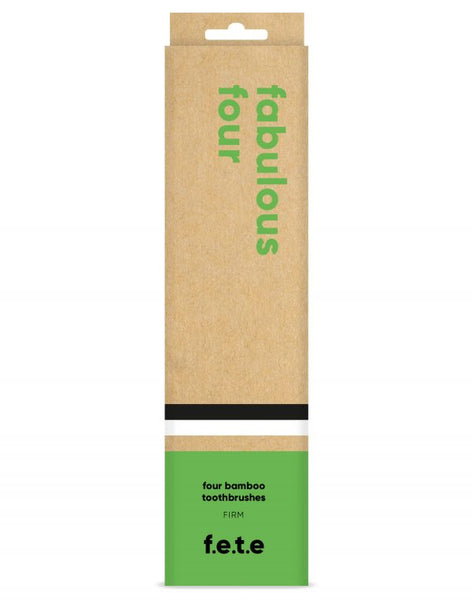 Bamboo Toothbrushes - Firm Bristles Pack